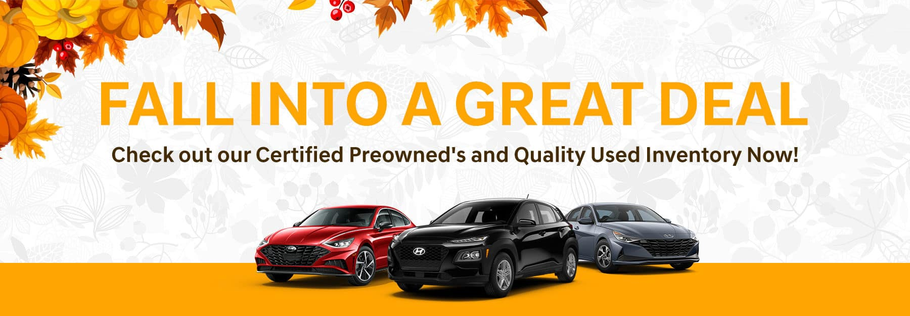 Fall into A Great Deal. Check out our Quality Used Inventory Now!