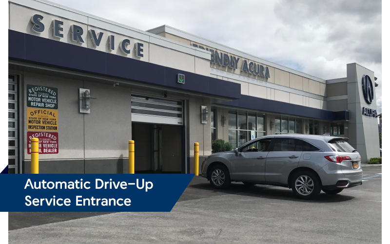 Automatic Drive-Up Service Entrance | Friendly Acura 2.0