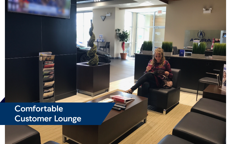 Comfortable Customer Lounge | Friendly Acura 2.0