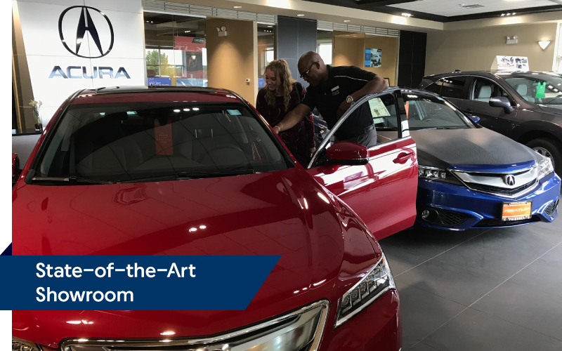 State-of-the-Art Showroom | Friendly Acura 2.0