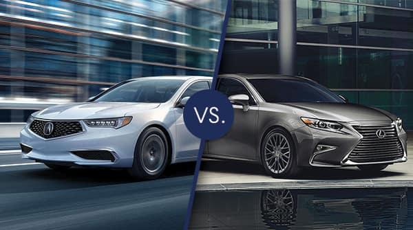 Acura Mdx Vs Rdx >> Comparison: 2018 Acura TLX vs 2018 Lexus ES 350 | Friendly Acura of Middletown