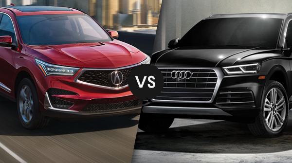 Comparison of the Acura RDX versus Audi Q5