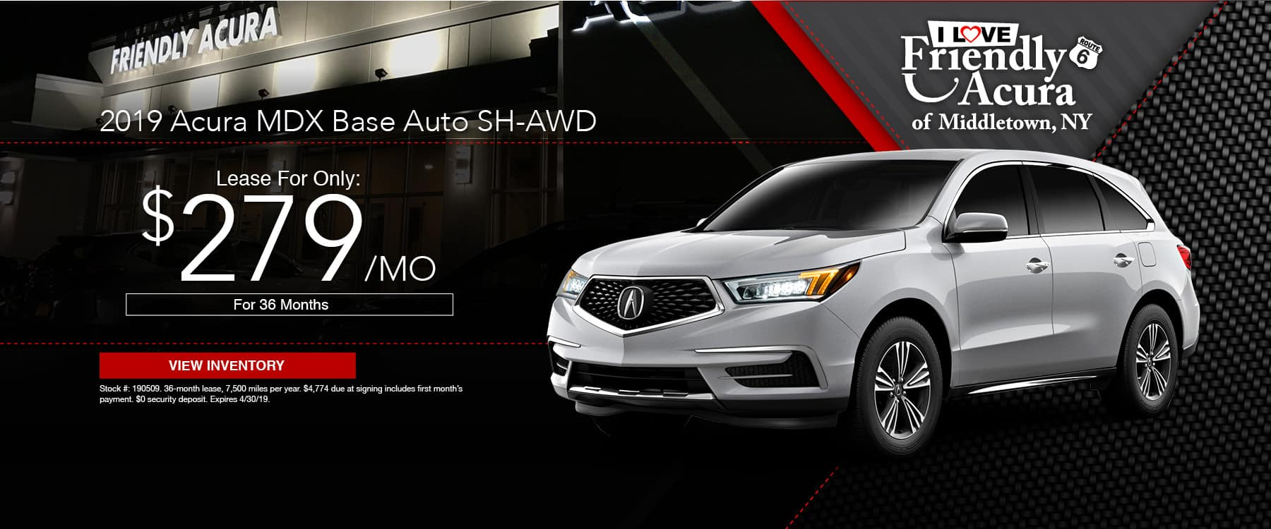 Lease a 2019 Acura MDX from Friendly Acura!