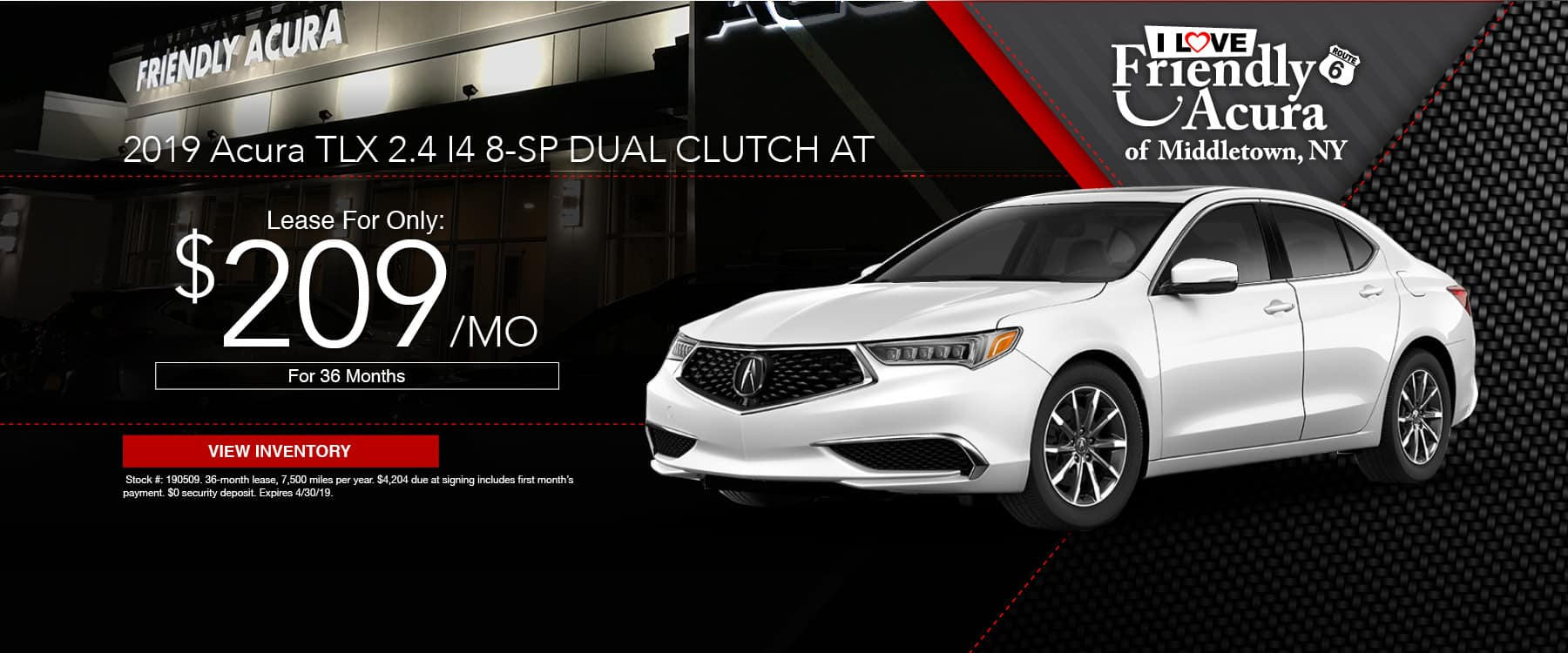 Lease a 2019 Acura TLX from Friendly Acura!