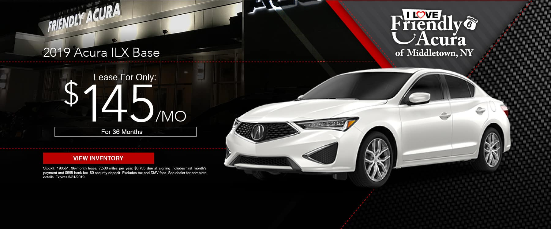 Drive a Friendly Acura ILX for just $145 a month!