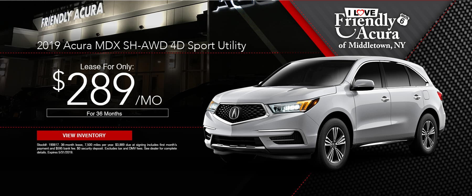 Drive a Friendly Acura MDX for just $289 a month!