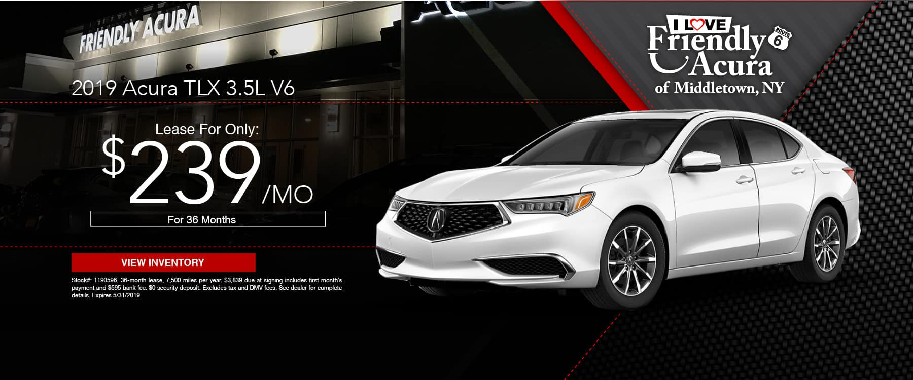 Drive a Friendly Acura TLX for just $239 a month!