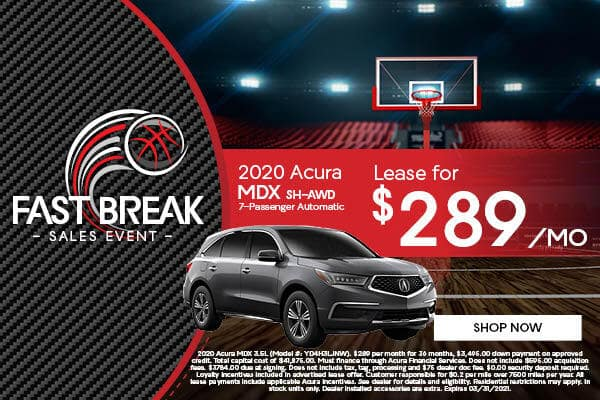 Fastbreak Sales Event at Friendly Acura of Middletown!