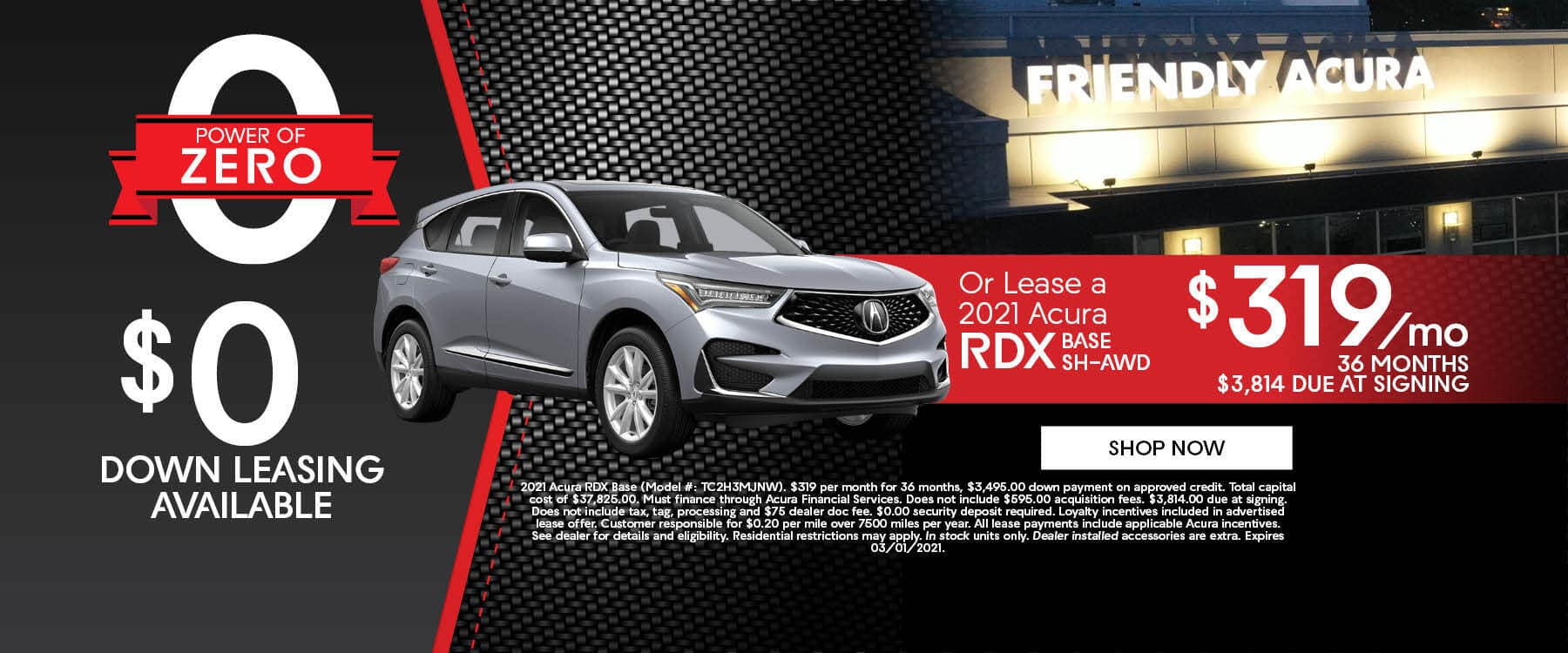 Get the Power of Zero at Friendly Acura of Middletown!