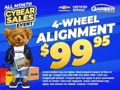 4-Wheel Alignment $99.95