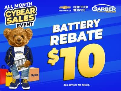 Battery Rebate $10