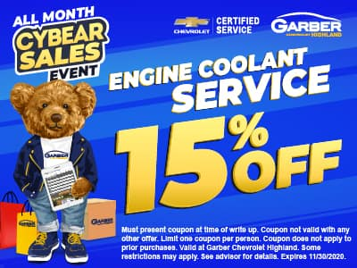 Engine Coolant Service 15% off