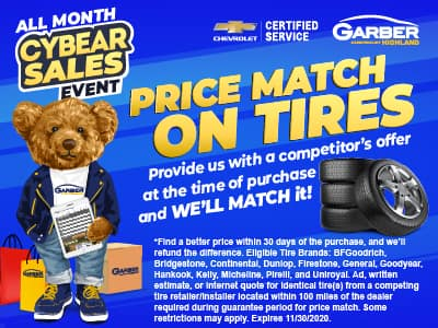 Price Match on Tires - Provide us with a competitor's offer at the time of purchase and we'll match it!