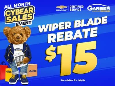 Wiper Blade Rebate $15
