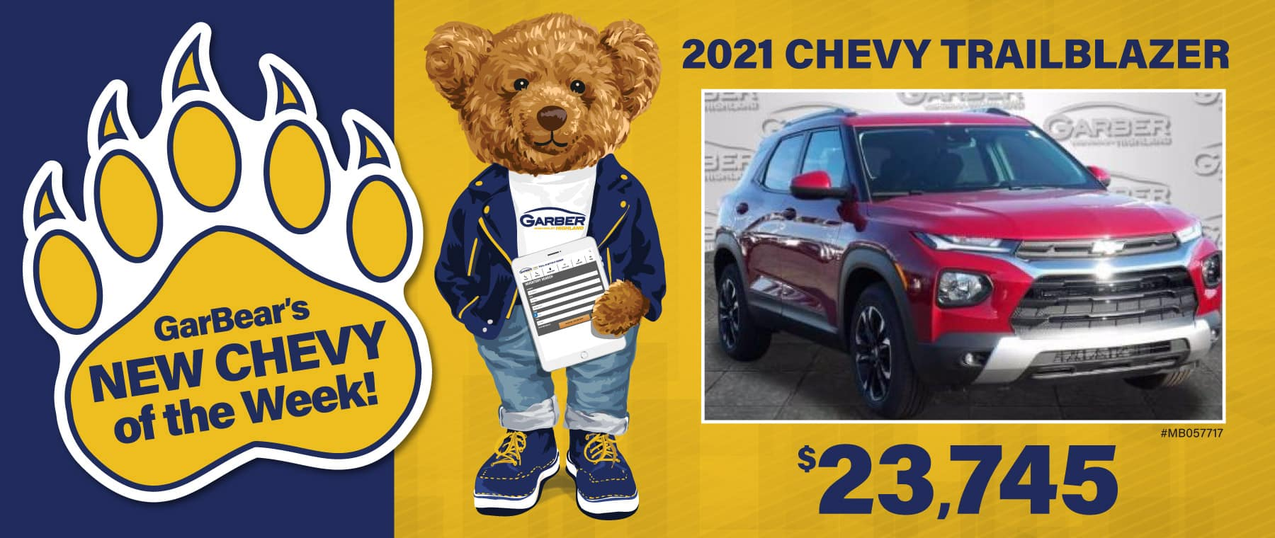 2021 Chevy Trailblazer $23745