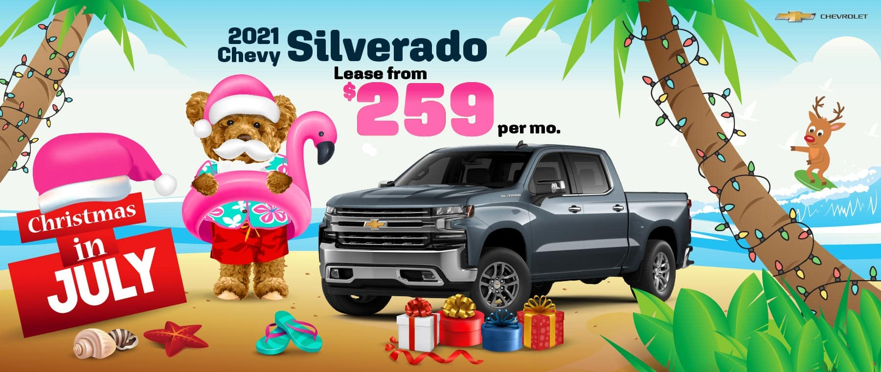 2021 Chevy Silverado - Lease From $259 per month