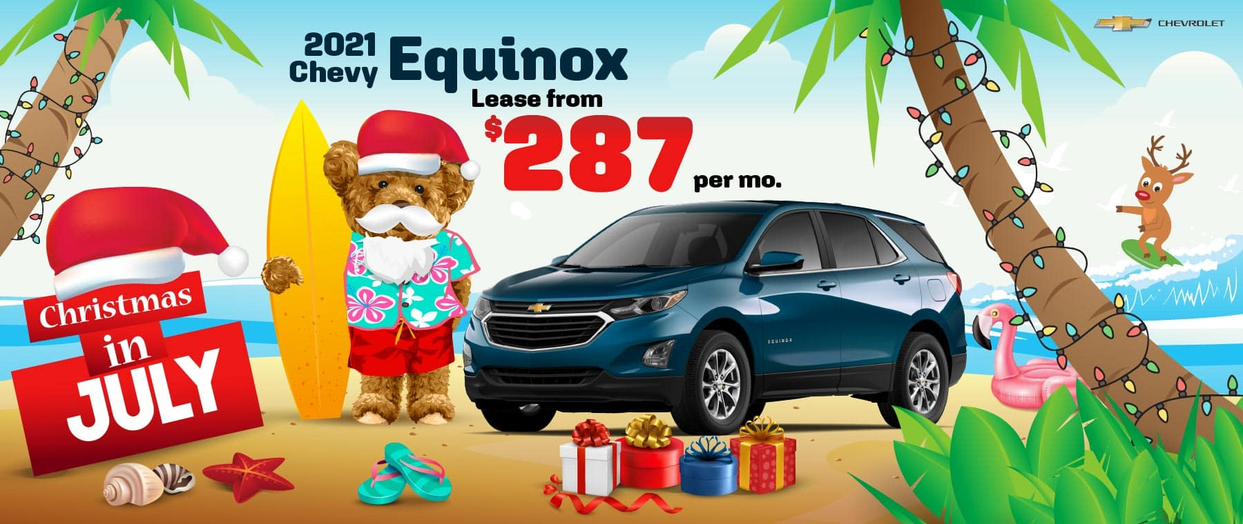 2021 Chevy Equinox - lease from $287 per month