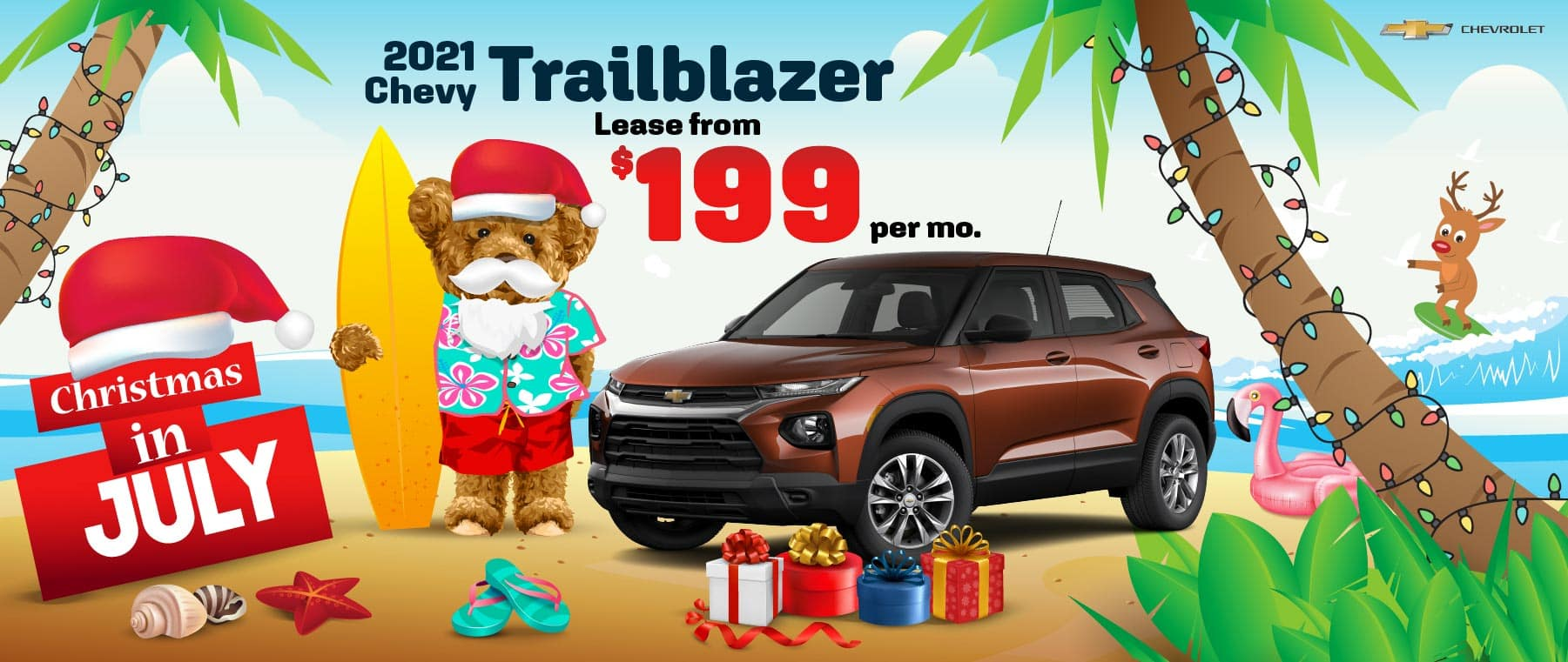 2021 Chevy Trailblazer - lease from $199 per month