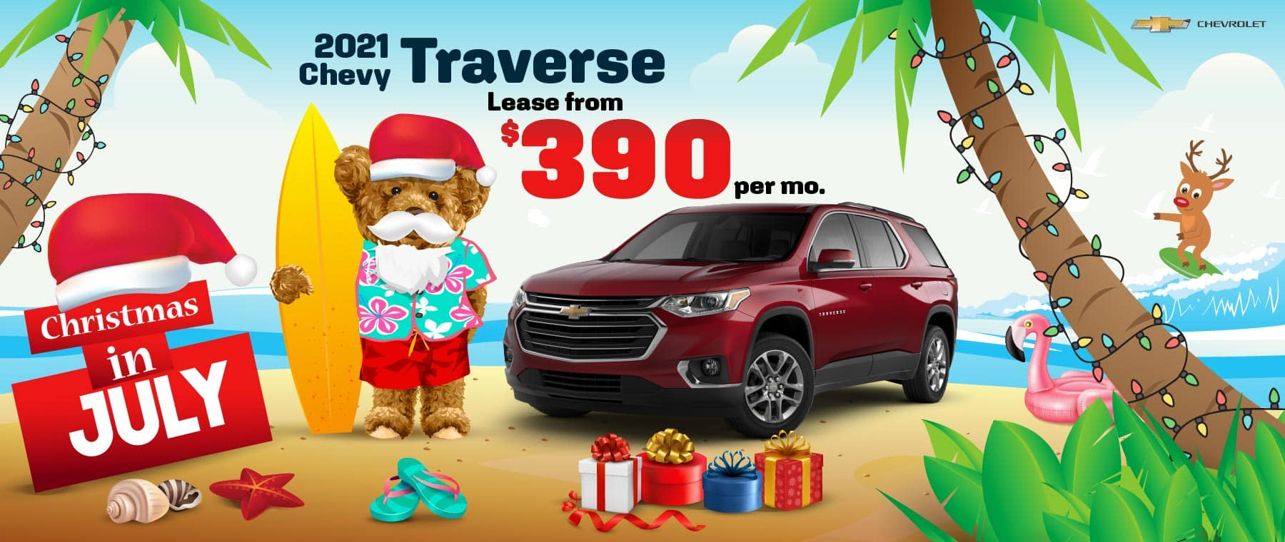 2021 Chevy Traverse - lease from $390 per month