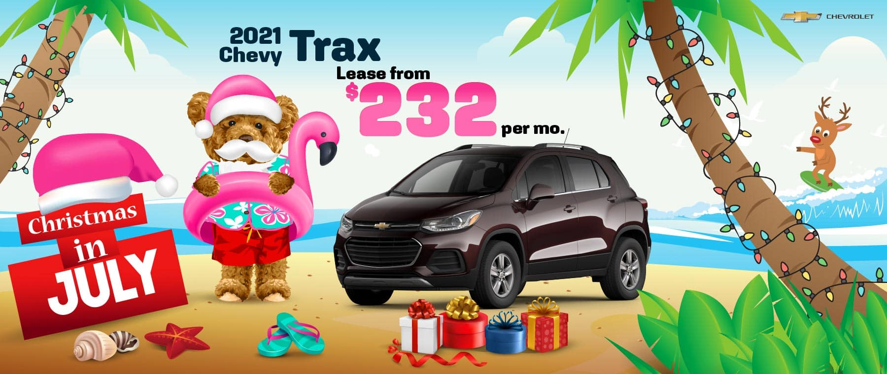2021 Chevy Trax - lease from $232 per month