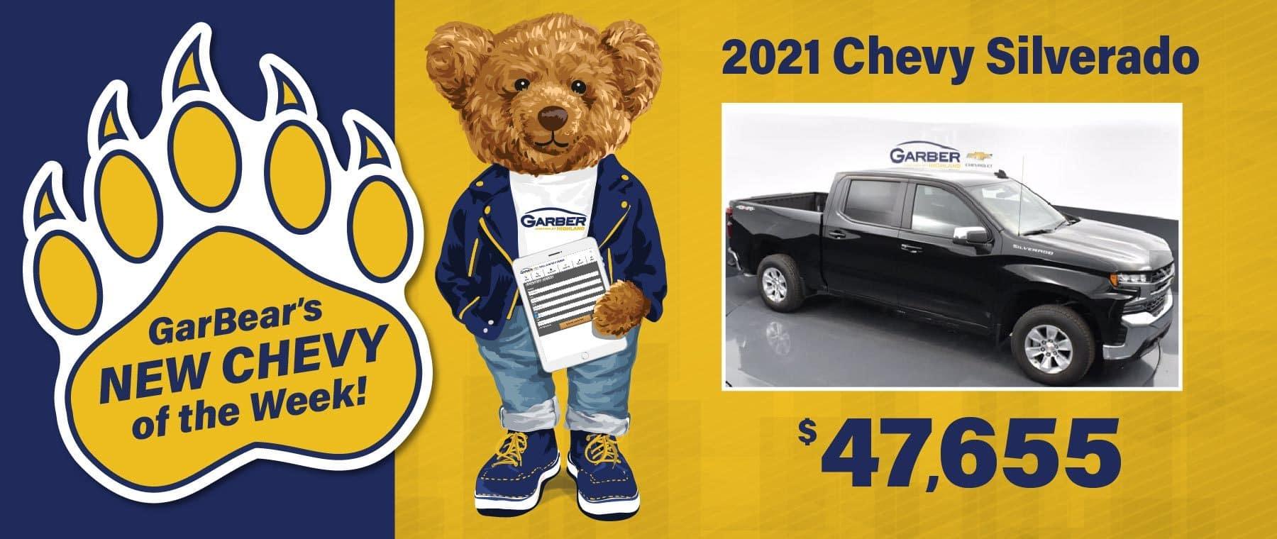 2021 Chevy Silverado - $47655