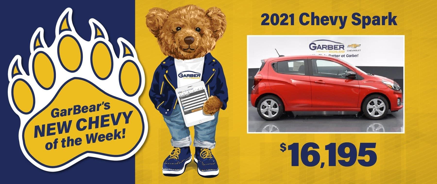 2021 Chevy Spark $16,195