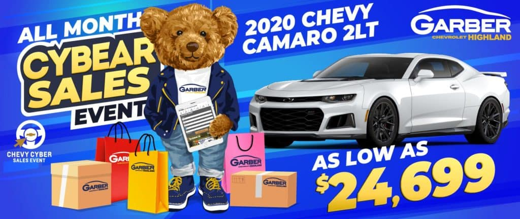 2020 Chevy Camaro - as low as $24,699