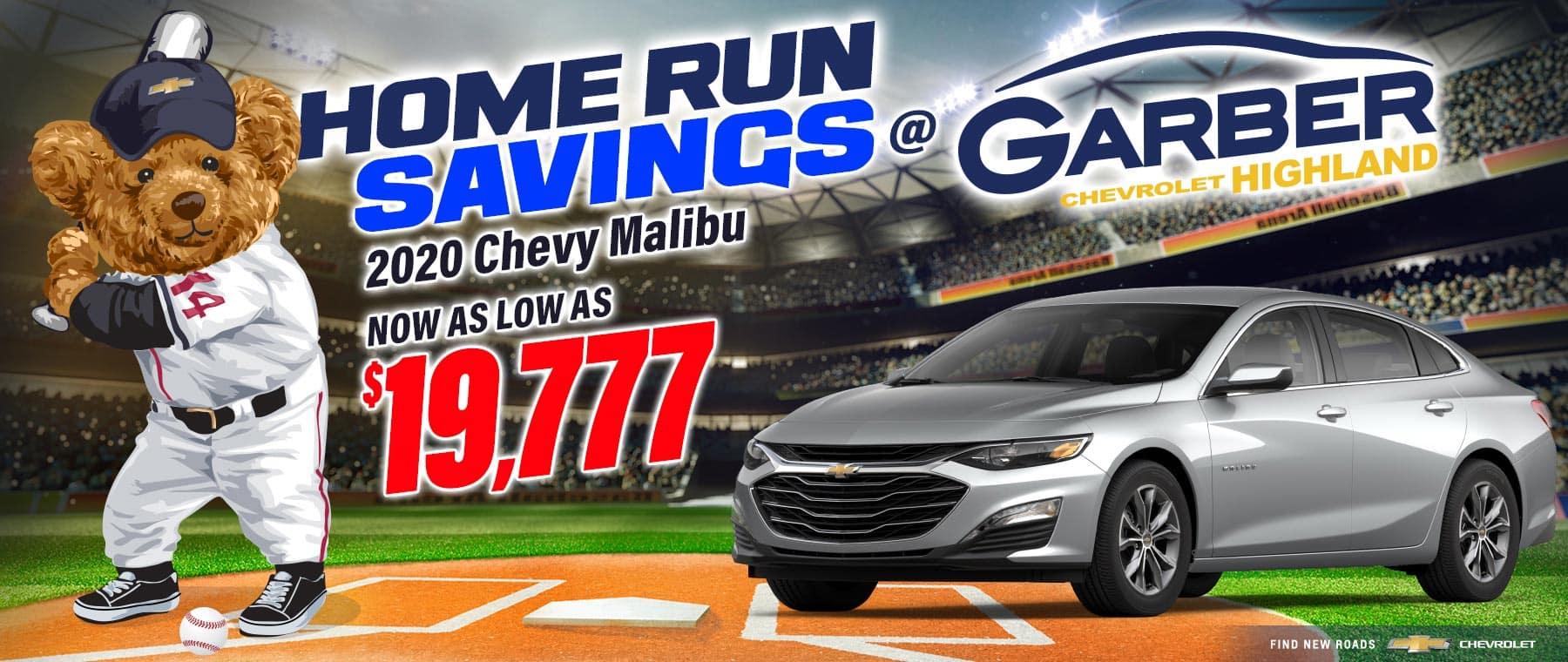2020 Chevy Malibu - as low as $19,777