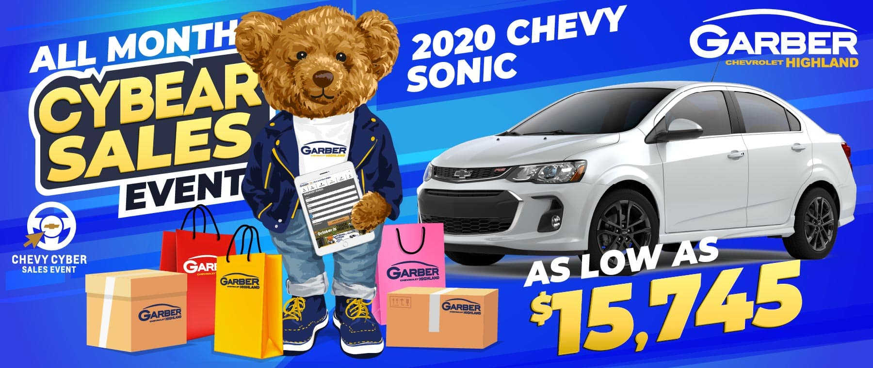 2020 Chevy Sonic - As Low As $15,745
