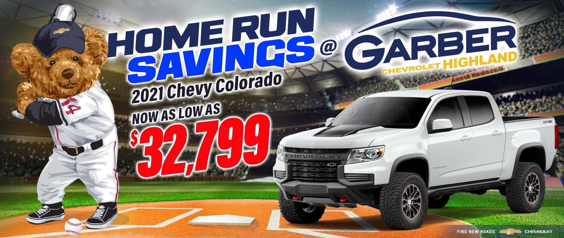 2021 Chevy Colorado - as low as $32,799
