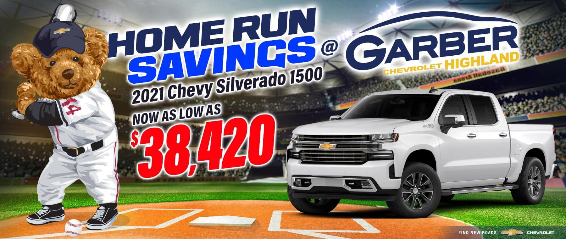 2021 Chevy Silverado - as low as $38,420