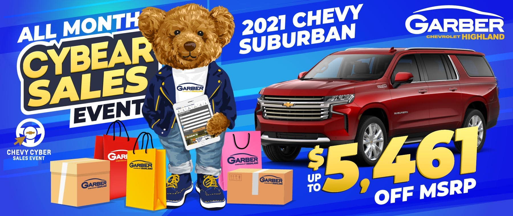2021 Chevy Suburban - SAVE up to $5461 off MSRP