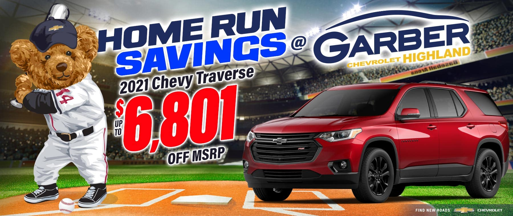 2021 Chevy Traverse - SAVE up to $6801