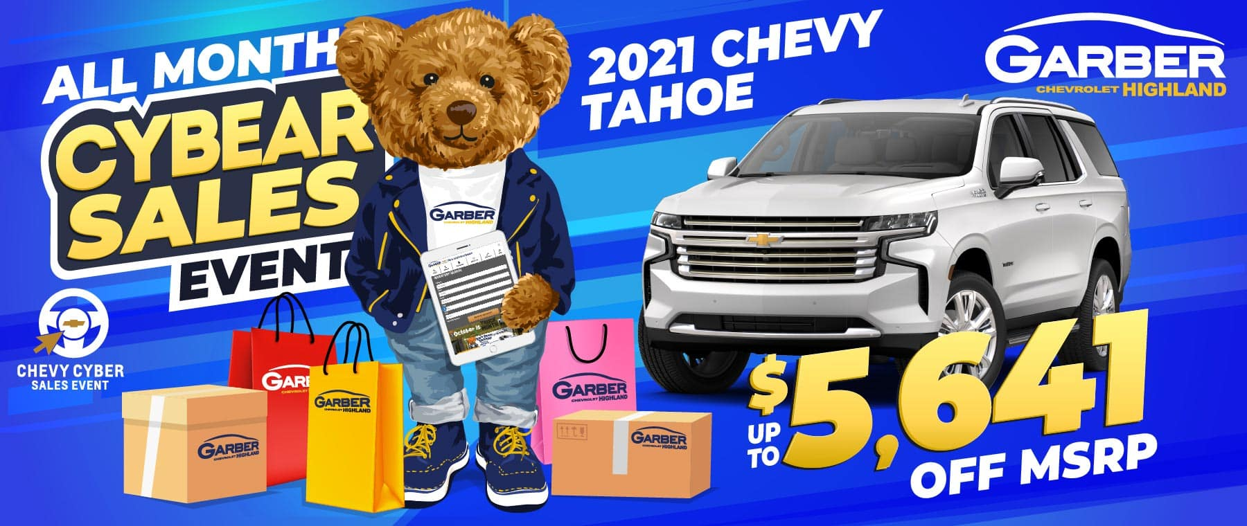 2021 Chevy Tahoe - Save up to $5641 of MSRP