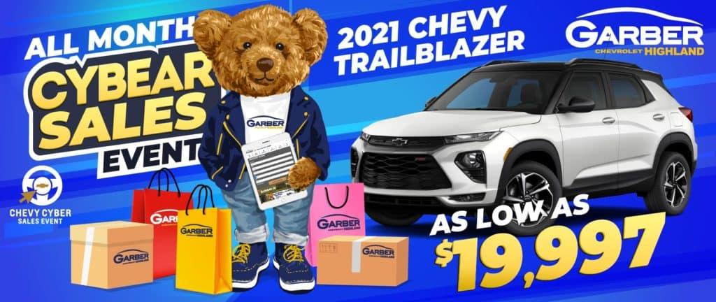 2021 Chevy Trailblazer - As Low As $19,997