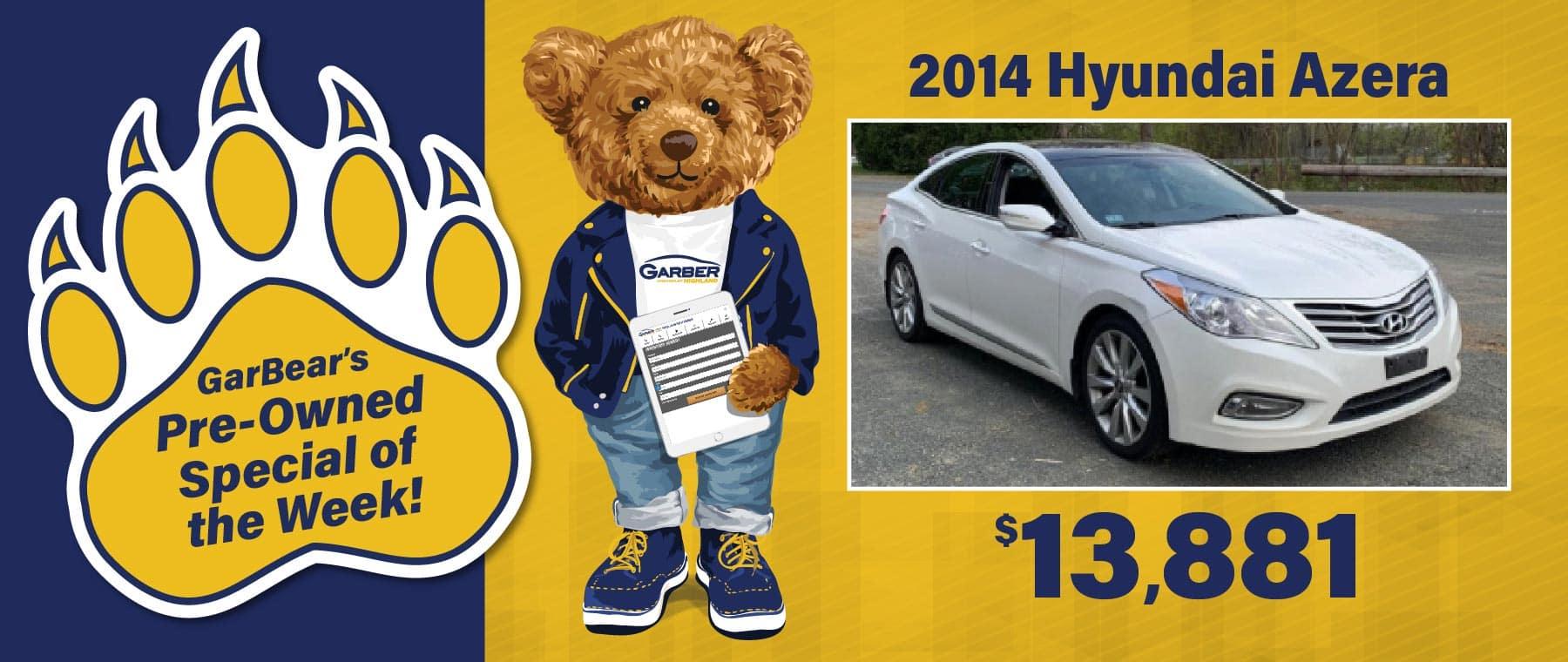 2014 Hyundai Azera $13,881