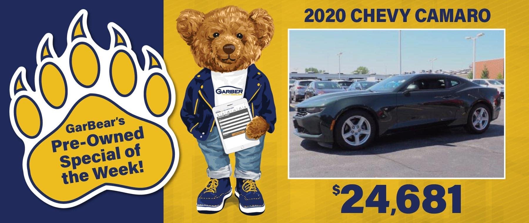 2020 Camaro - $24681
