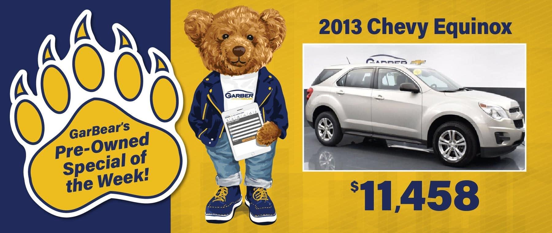 2013 Chevy Equinox - $11,458