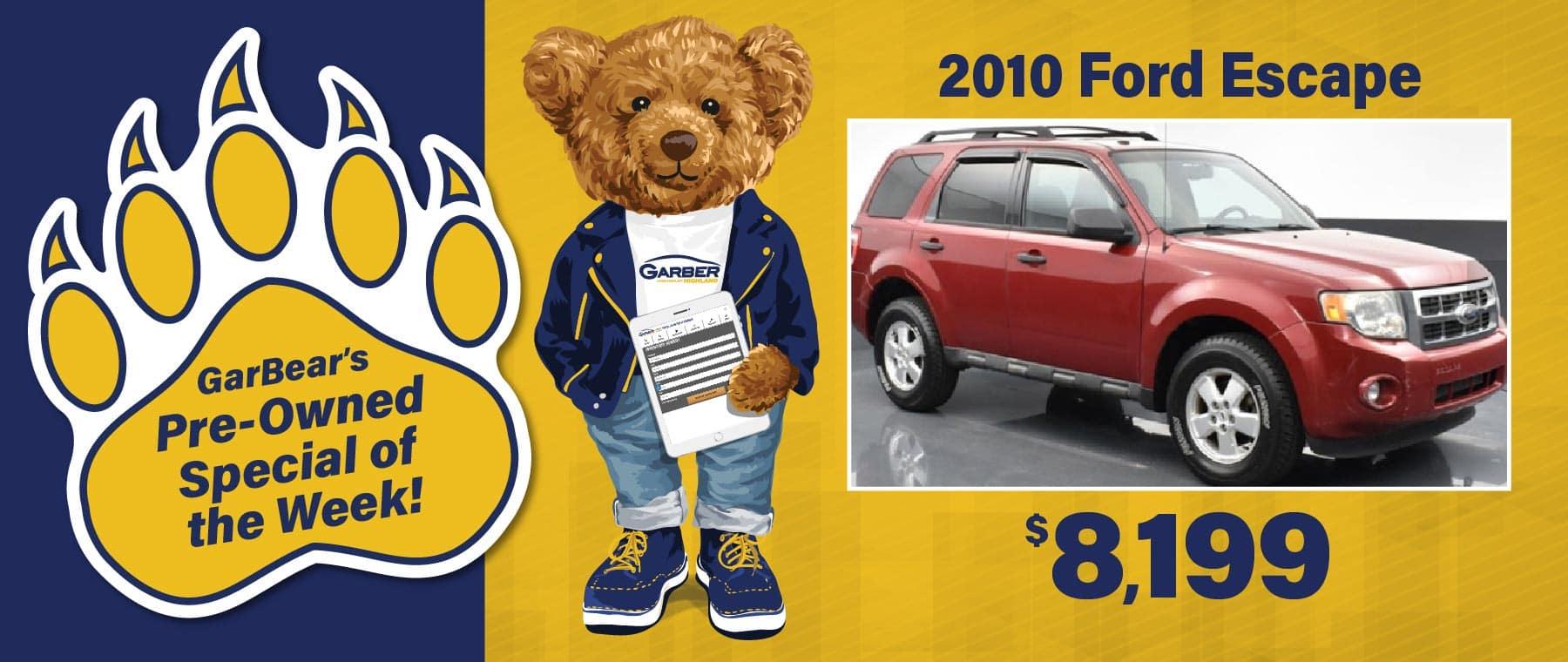 2010 Ford Escape $8199