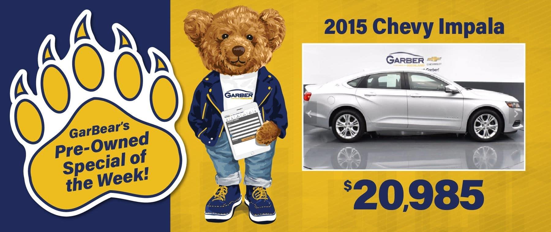 2015 Chevy Impala $20,985