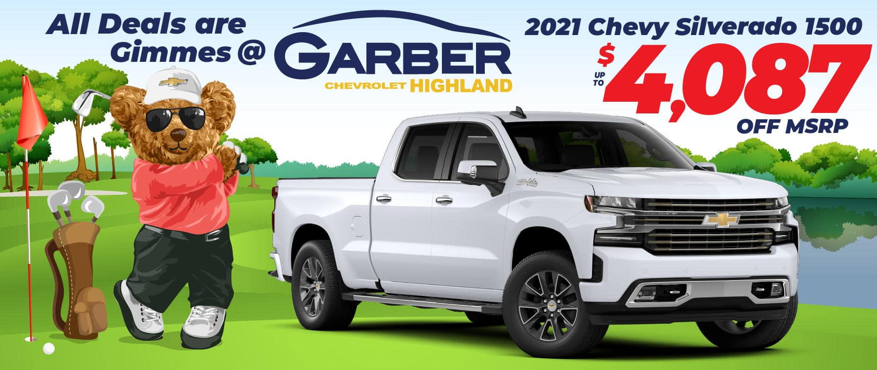 2021 Chevy Silverado - up to $4087 off MSRP