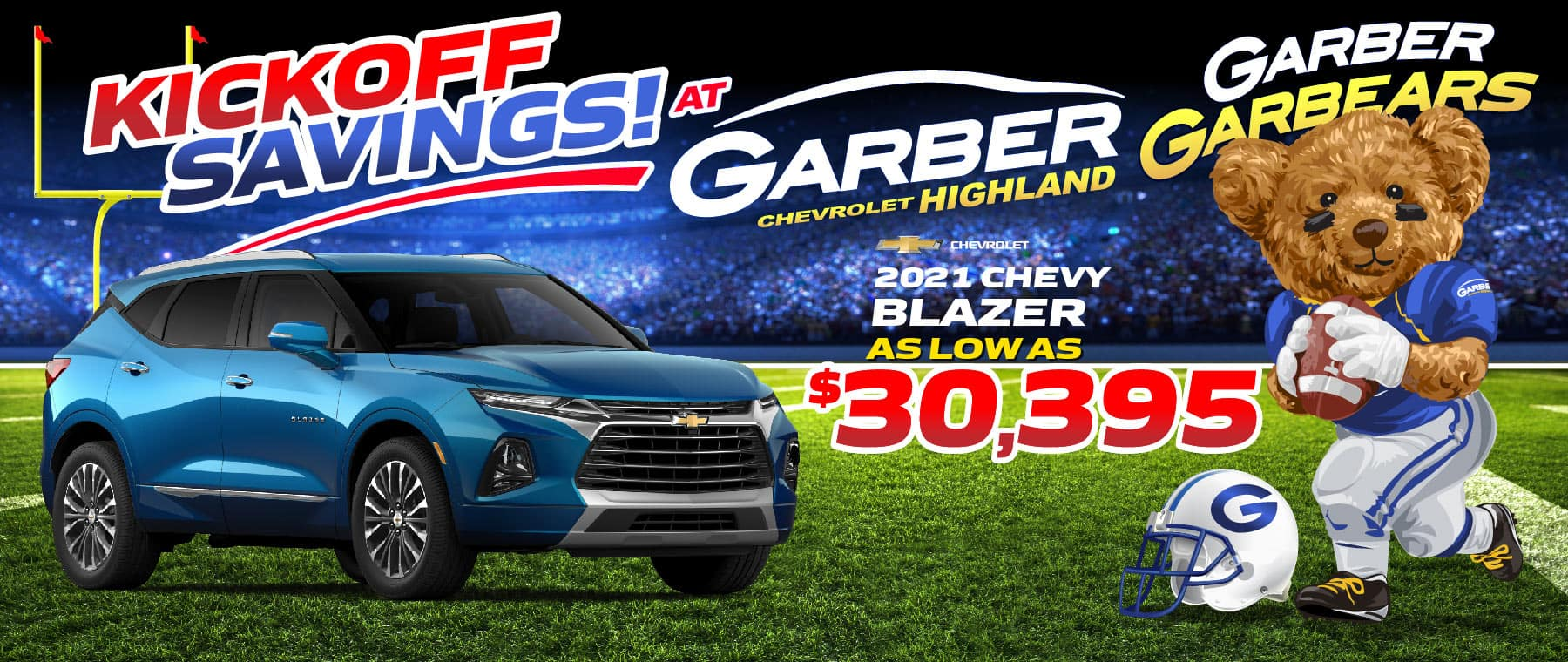 2021 Chevy Blazer - as low as $30395