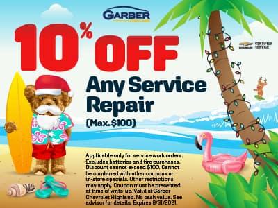 10% off any repair service (Max. $100)
