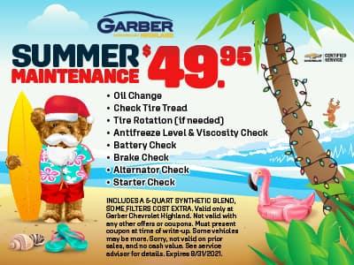 Summer Maintenance $49.95