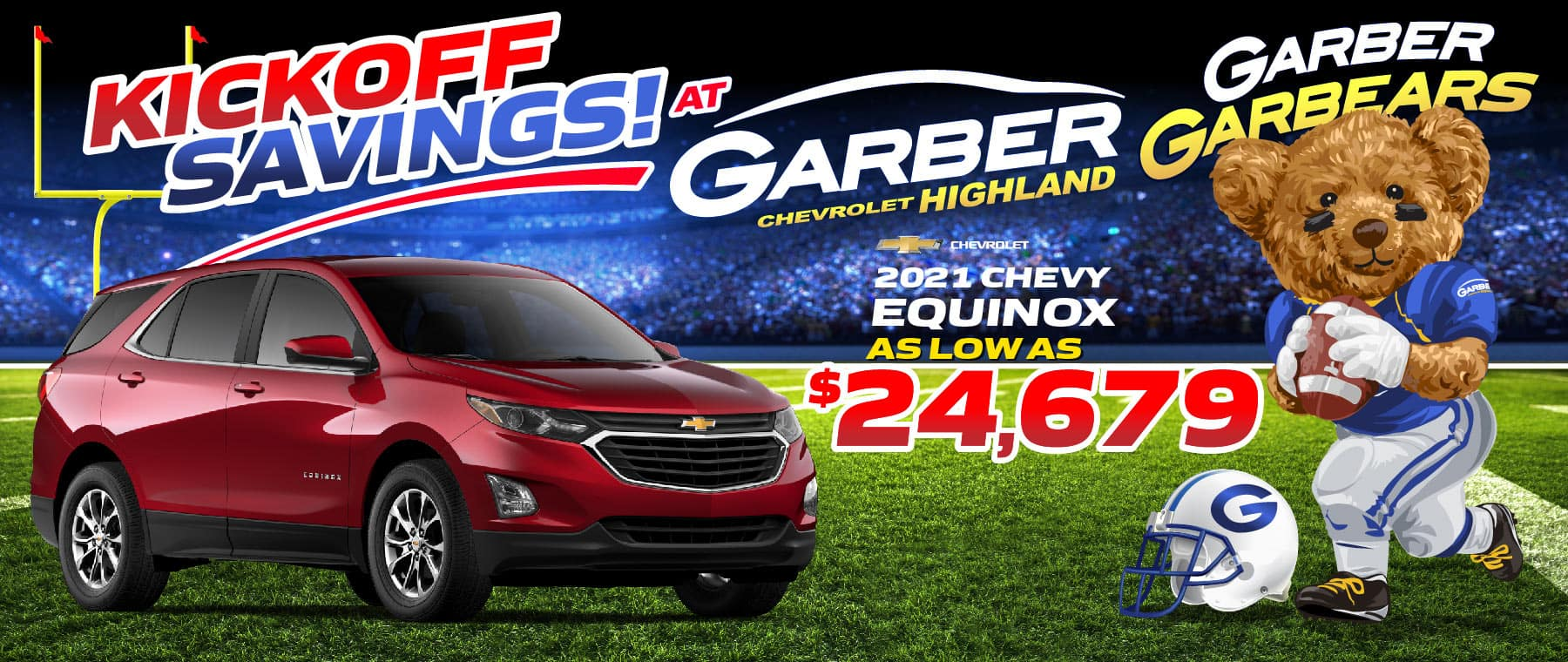 2021 Chevy Equinox - as low as $24,679