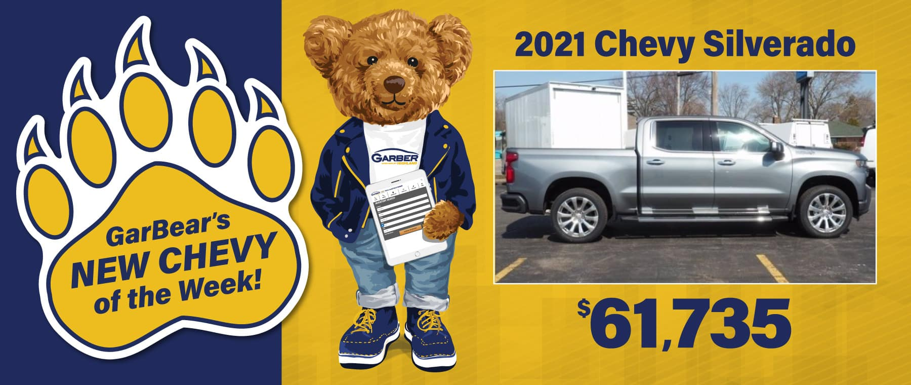 2021 Chevy Silverado $61,735