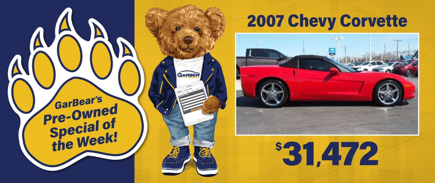 2007 Chevy Corvette $31472