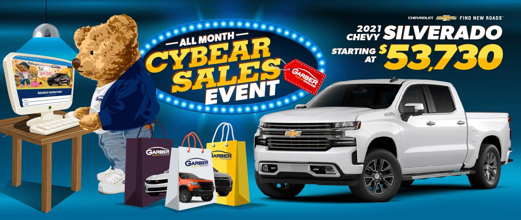 2021 Chevy Silverado 1500 - as low as $30,400