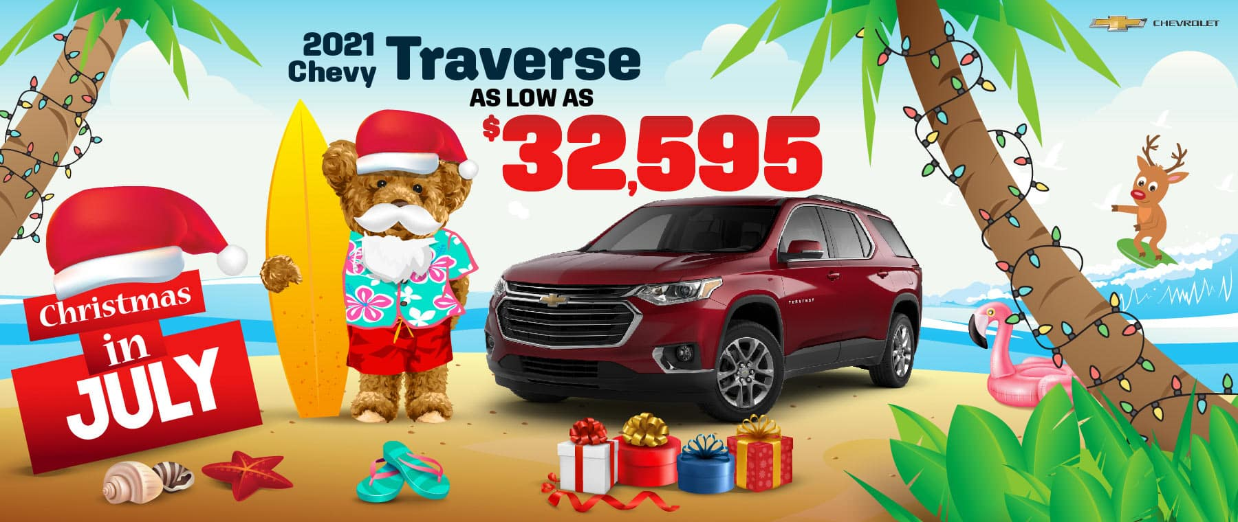 2021 Chevy Traverse - as low as $32,595