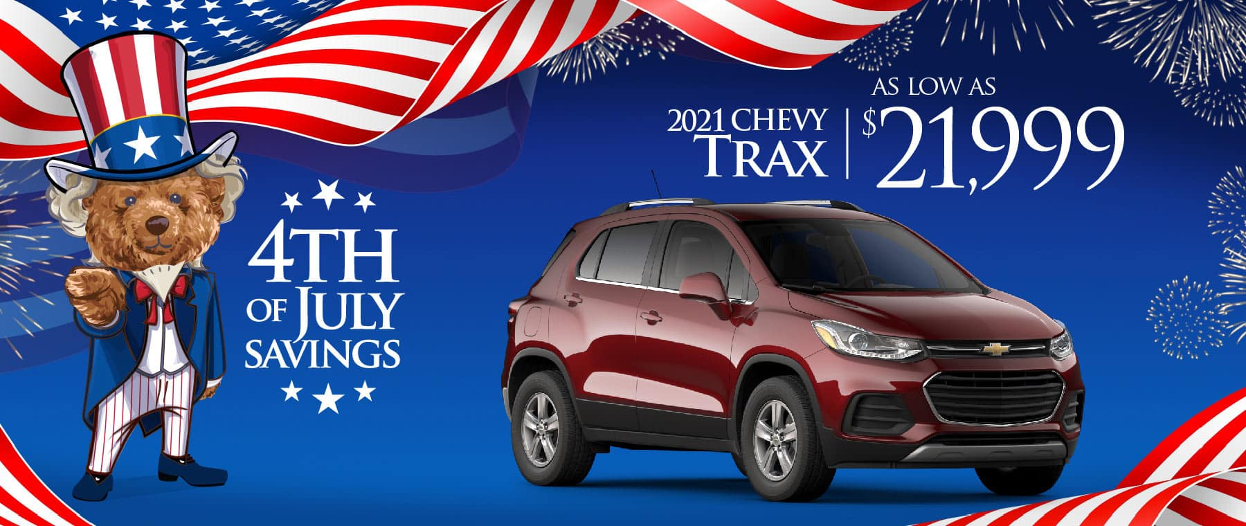 2021 Chevy Trax - as low as $21838